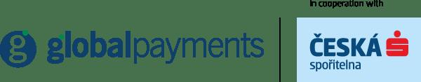 Blue Global Payments logo with Ceska logo