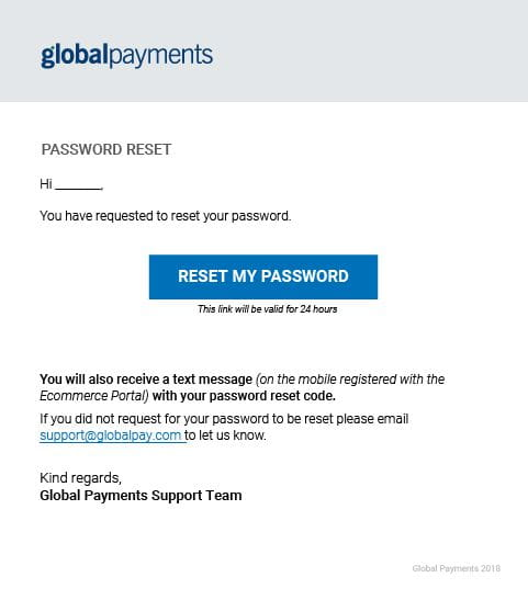 Resetting Password
