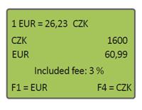 DCC výběr měny