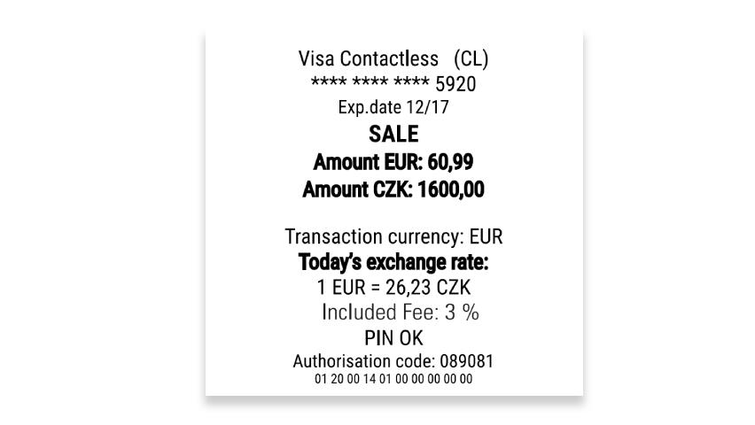 DCC účtenka