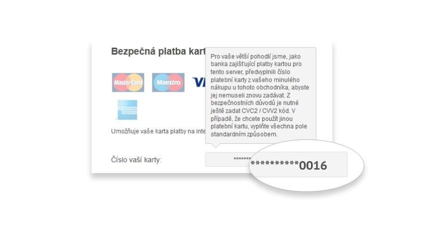 GP webpay opakovaná platba