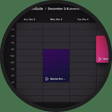 HiveTV Schedule Content