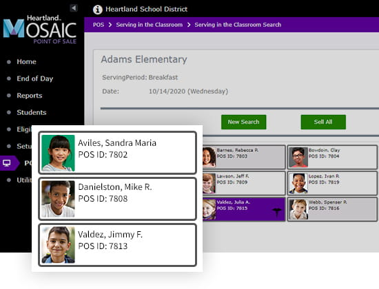 Mosaic POS Serving in the classroom