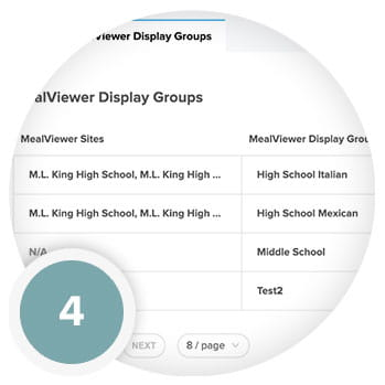 MealViewer Sync | Assign Groups