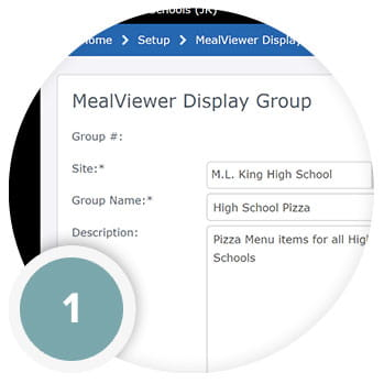 MealViewer Display Groups