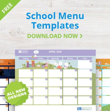 School Menu Templates 2021-22SY | Download Now