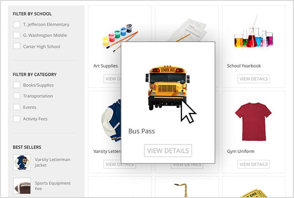 School Store | Collect Payments