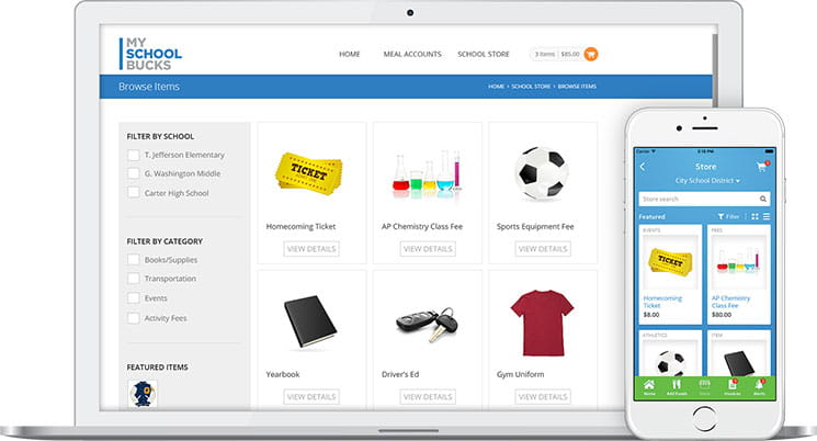 School Store | Online or On-The-Go