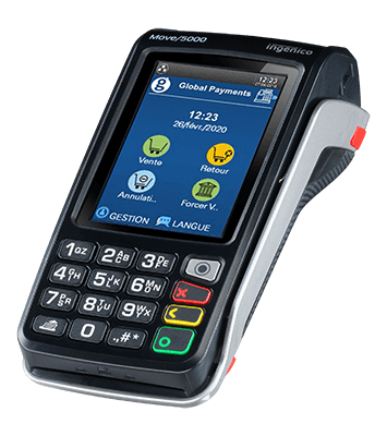 mobile phone with heartland card holder and credit card