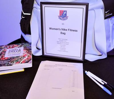 Silent Auction: Bid Sheet for Womens Fitness Bag