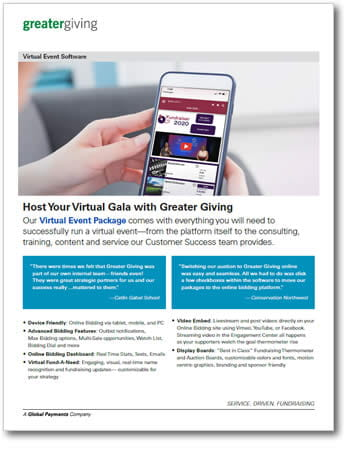 Virtual Event Package Datasheet | Greater Giving