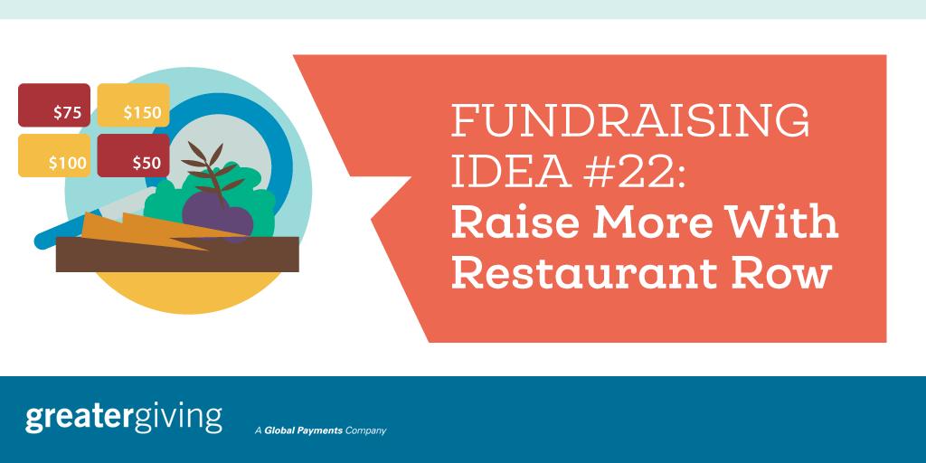 Auction Games | Idea 22 - Raise More With Restaurant Row