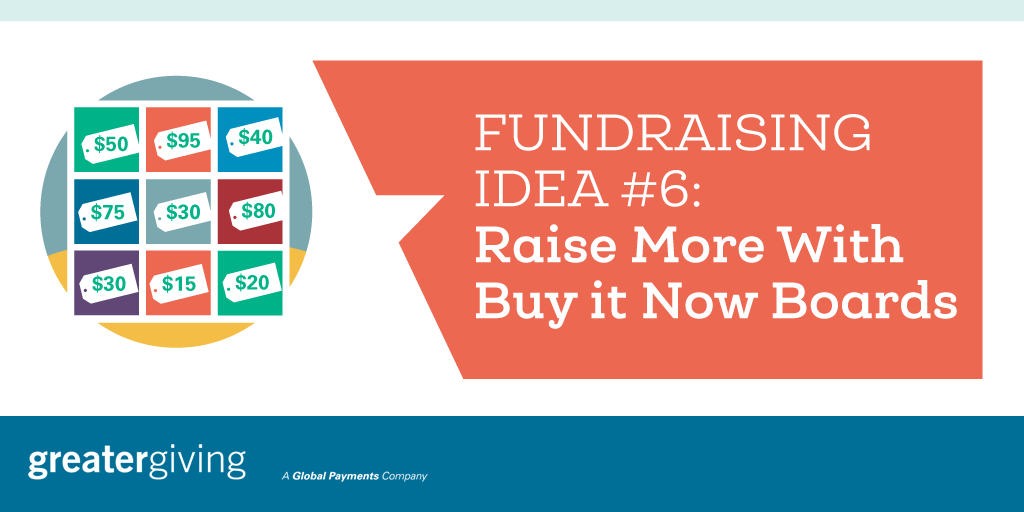 Auction Games | Idea 6 - Raise More With Buy it Now Boards