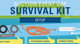 Auction Event Day Survival Kit