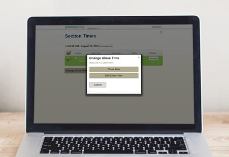 Greater Giving Go Time Section Times - product feature
