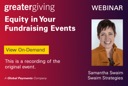 Equity in Your Fundraising Events Samantha Swaim Webinar