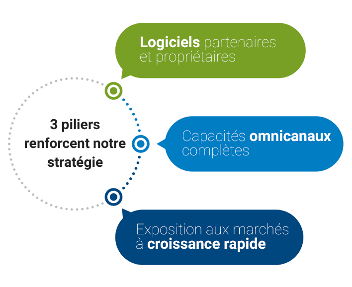 3 pillars of strategy - software driven, full omnichannel capabilities and faster growth