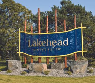 Lakehead University Welcome Sign