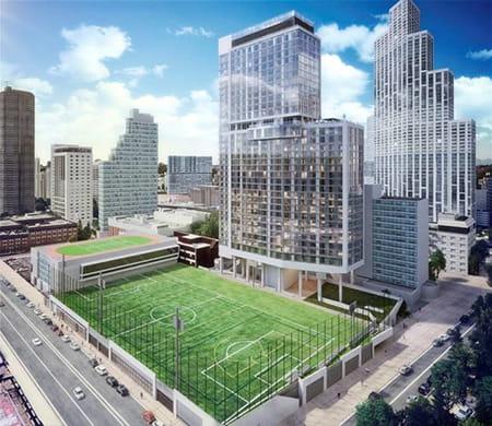 Long Island University new building rendering