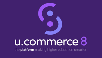 U.Commerce 8 logo and tagline, the platform making higher education smarter